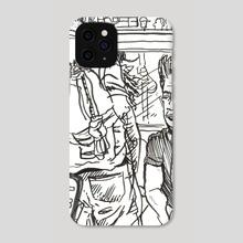 People Subway 3 Black& White - Phone Case by Dan Archer