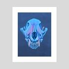 Coyote skull - Art Print by FoxbergART Foxberg