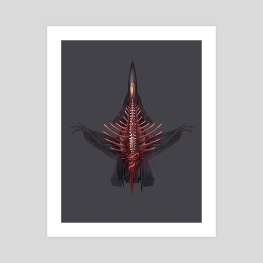 Blood Eagle [Grey Background] by Alice  Bruderer