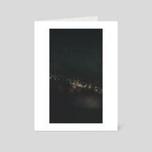 city lights - Art Card by drewmadestuff