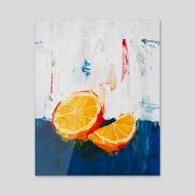A Simple Orange - Acrylic by Eric Buchmann