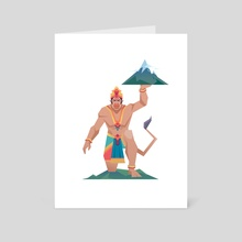 Monkey King - Art Card by Shehzad  Kapadia