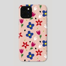 Floral spring pattern - Phone Case by Kenya Aguirre