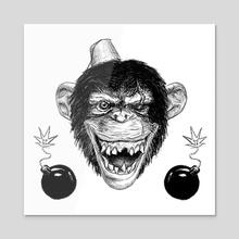 Bad Monkey - Acrylic by Kai Peterson