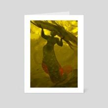 arapaima mermaid - Art Card by Caitlin Soliman