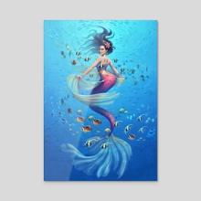 Cinco de Mayo Mermaid - Acrylic by Yasushi Matsuoka