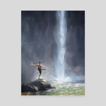 Waterfall Dancer - Canvas by Allison Chin