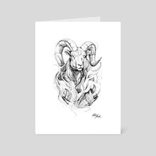 Zodiac: Aries - Art Card by Kate Trish