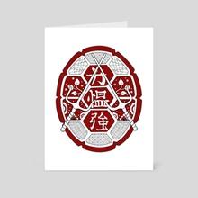 TMNT Shell mandala red - Art Card by Genevieve Blais