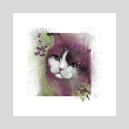 Cat Portrait 03 by Anuradha Grover