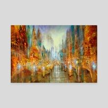 city of lights - Canvas by Annette Schmucker