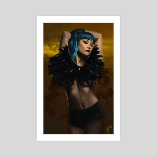 Blue hair girl by Thomas BIGNON