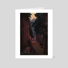 Looking for a place to camp - Art Card by Maria Nguyen