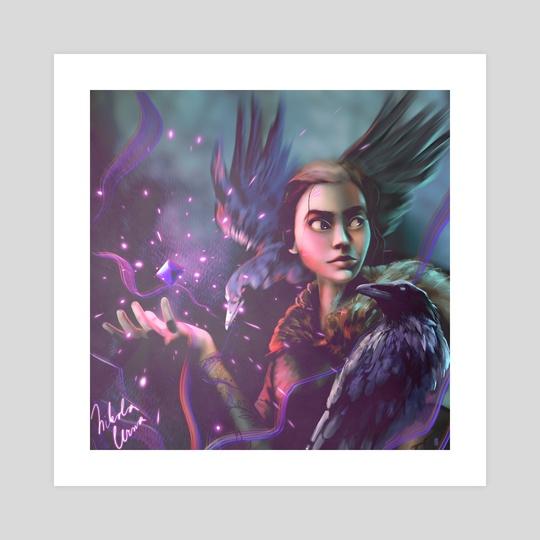 Raven girl  by Nikola Černa