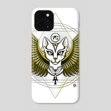 Bastet Olive - Phone Case by Anuradha Grover