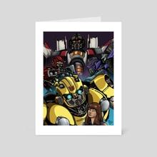 Inktober Days 28-31: Bumblebee Movie  - Art Card by Nathanael Batchelor