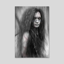 Barbarian - Acrylic by Justin Gedak