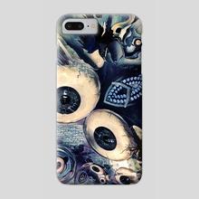 Eye Dreams Keep Quiet 3 - Phone Case by Vanja Rancic