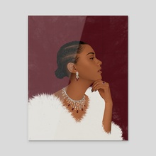 Ruby - Acrylic by John 'Jamal' Nwabiani