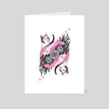 Springtime Calico - Art Card by Ash Weaver