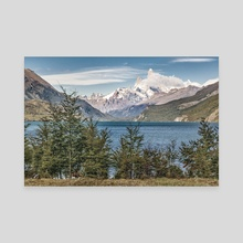 Lake and Andes Mountains, Patagonia - Argentina - Canvas by Daniel Ferreira Leites