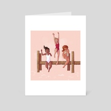 123 Jump - Art Card by Marley Inksetter