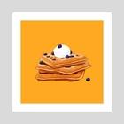 Waffles - Art Print by Casandra Ng