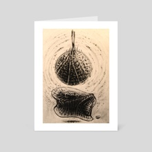 Geometric womb - Art Card by Tatiana Kotelnikova