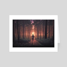 Chasing Darkness  - Art Card by Sean Bodley