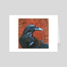 Sandra's Raven - Art Card by Maranda Cromwell