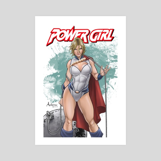 Power Girl cover  by Antiono Antipus