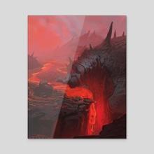 Hot Hellscape - Acrylic by Thomas Ricci