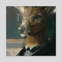 Deer Portrait - Acrylic by Nomax