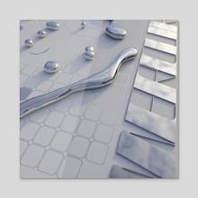 MERCURY ://.:..: WHITE RIGHT - Acrylic by Maxime C