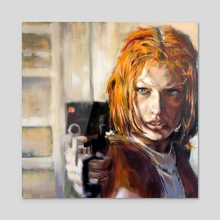 Leeloo - 5th Element (1997) - Acrylic by kevin mccall