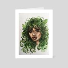 Mint  - Art Card by Sarah Mary Street