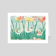 Garden Holiday - Art Card by Angela Keoghan