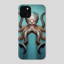 Kraken Square - Phone Case by Lars Grant-West