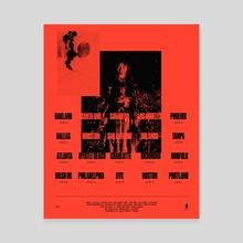 Lil Uzi Vert (Tour Poster) - Canvas by Etiene Crauss
