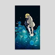 Super Monroe No.1 - Canvas by Eerina Hart