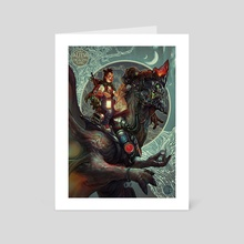 Alma and the Dragon King  - Art Card by Rafael Sarmento
