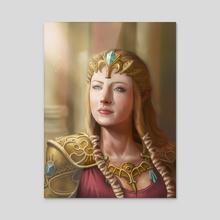 Zelda - Acrylic by Dudu Torres