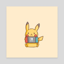Pikachu Switch - Canvas by Miss Chibi