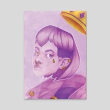 R –Violet King - Acrylic by Nikoli Shaver