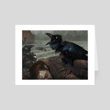MTG - Carrion Crow - Art Card by Aaron Miller