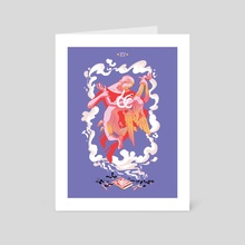 The Devil - Art Card by Rosemary Valero-O'Connell