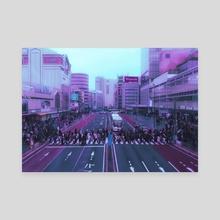 Aesthetic Shinjuku - Canvas by Vu-Minh Nguyen