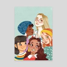 Mujeres - Canvas by Laura Galarraga