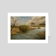 Marsh landscape - Art Card by Alejandro García