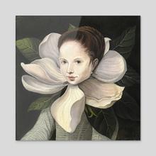 Magnolia - Acrylic by Evgeniya Vladykina